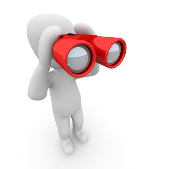 Binoculars, Search, See, To Find, Watch