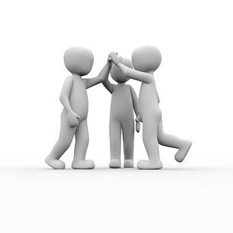 お友達と, 信頼, 友情, 一緒に, コミュニティ, 忠誠心, バディ, 人間