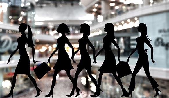 ショッピング, 女性, ショップ, ショッピングの女性, 女性のショッピング