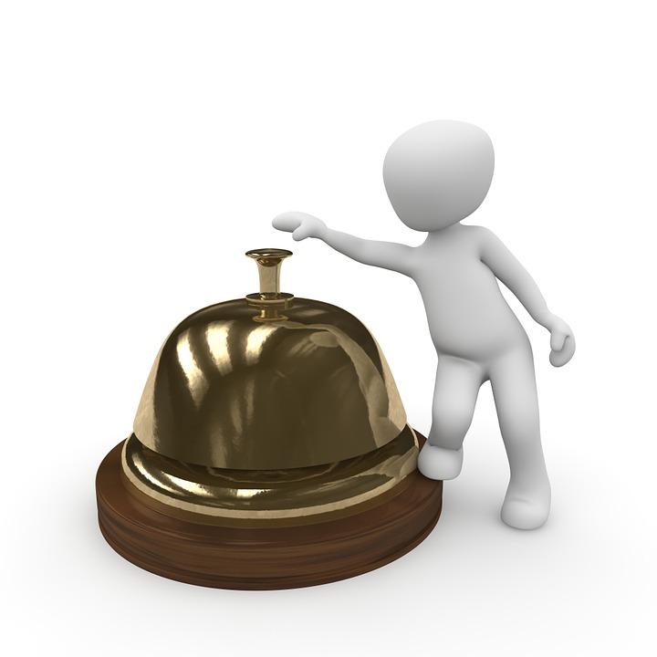 Réception, Bell, Personnel, Bague, Hôtel