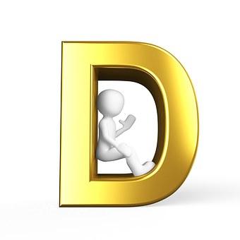 D, Lettera, Alfabeto