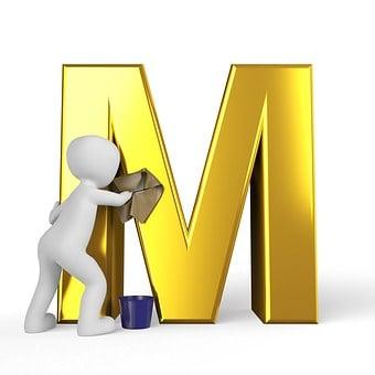 M, Lettera, Alfabeto
