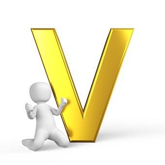 V, Lettera, Alfabeto