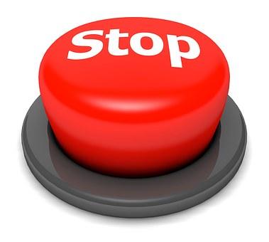 Bouton Stop Aller Presse Cliquez Sur Stop