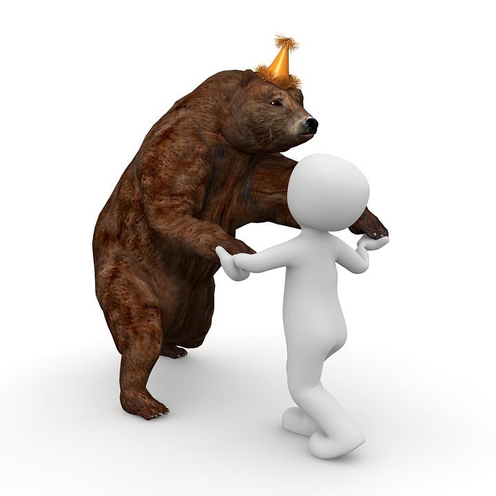 free illustration dancing bear  bear  dance  party free Gangster Teddy Bear Drawings teddy bear silhouette vector free