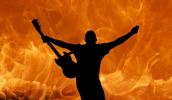 Gitarr, Sten, Metall, Musik, Elektriska