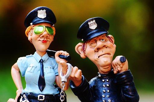 Cop, Polis, Kollegor, Rolig, Figur