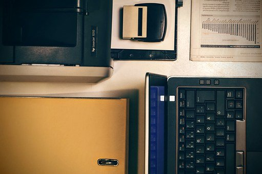 Ordenador Portátil Impresora Oficina Carpe