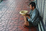 beggar, begging, street
