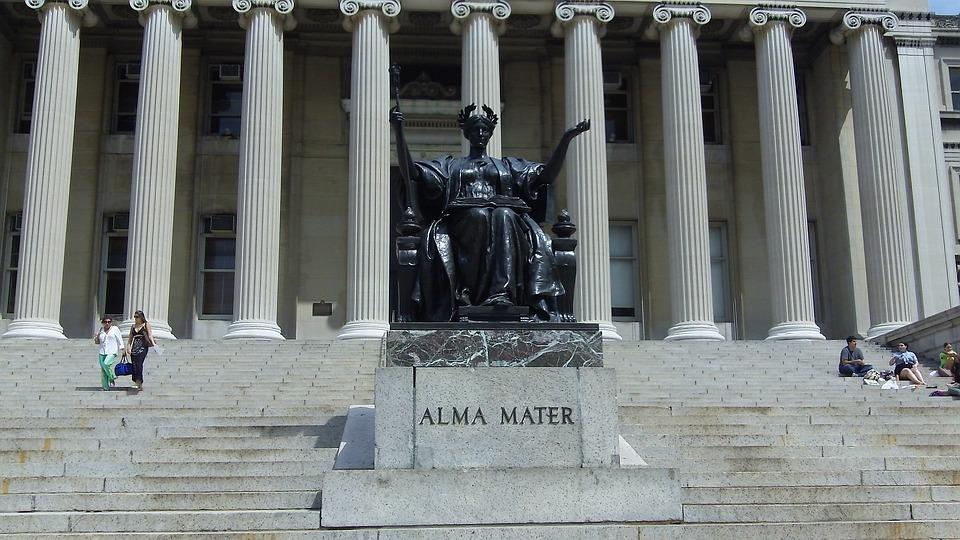 哥伦比亚大学, 雕像, 纽约, 校园, 大学, 步骤, 母校