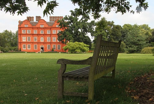 Kew Jardin, Londres, Parc, Banc, Uk
