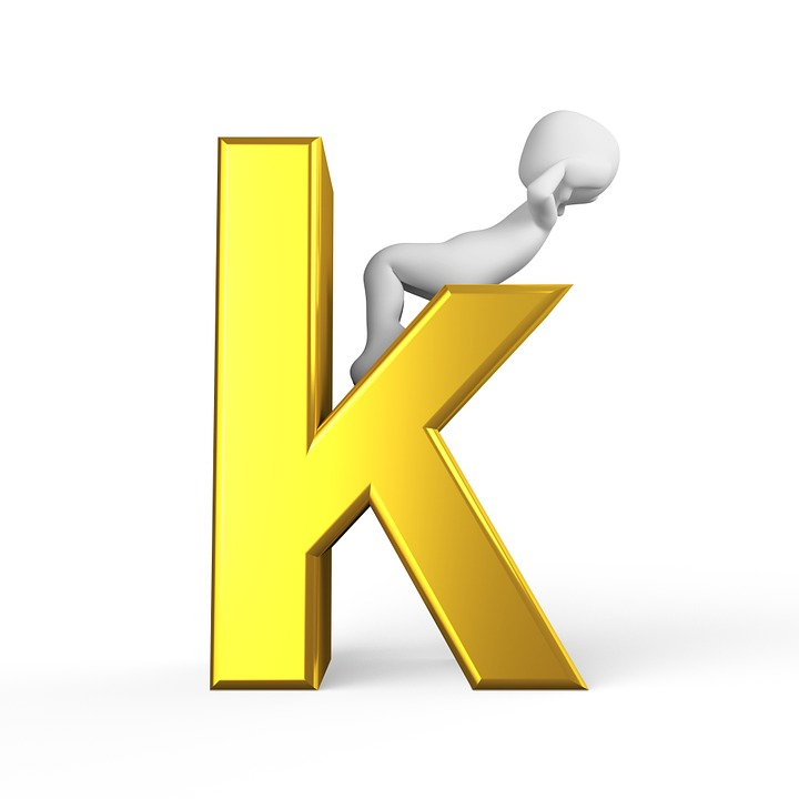 K Letter Alphabet Alphabetically Abc