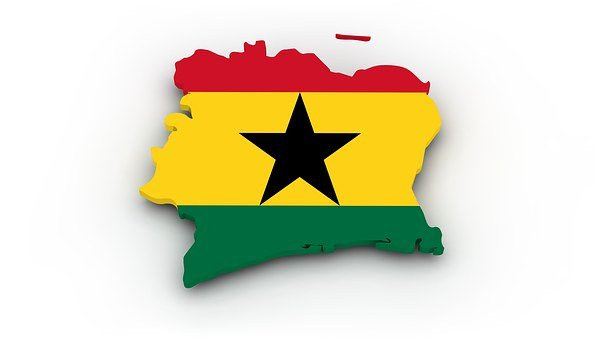 Map Ghana Flag Borders Country States Of A