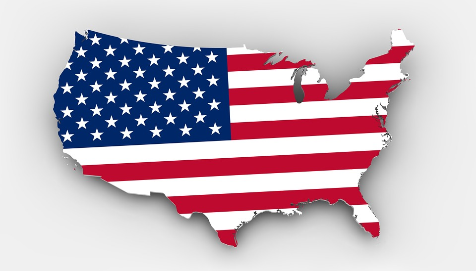 Free Illustration Map Usa Flag Borders Country Free Image - Fda map of us