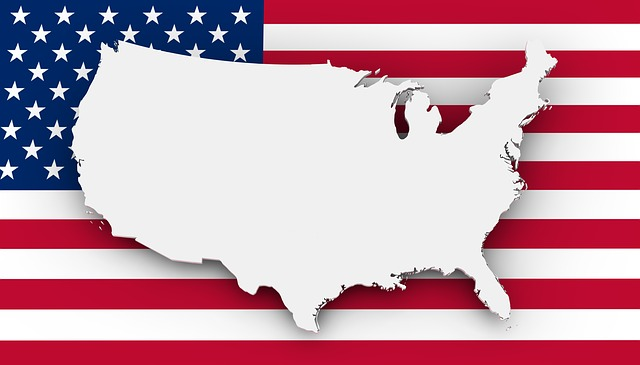 Free Illustration Map Usa Flag Borders Country Free Image - Current red blue us map