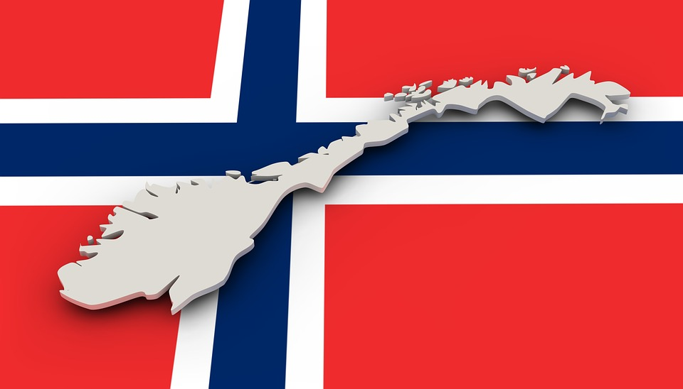Free Illustration Map Norway Flag Borders Country Free - Norway map and flag