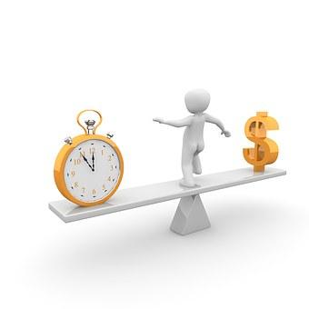 時間, お金, 水平, 推測します, 危機, 意思決定, 職業, レジャー
