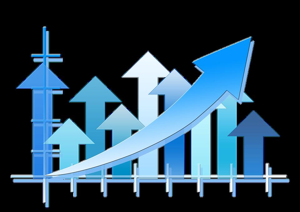 Line Art Design Trend : Statistics arrows trend · free image on pixabay