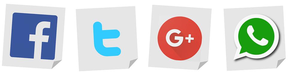 logo twitter google facebook