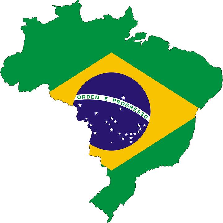 ブラジル, フラグ, 地図, シンボル, 国, ブラジルの国旗, バナー