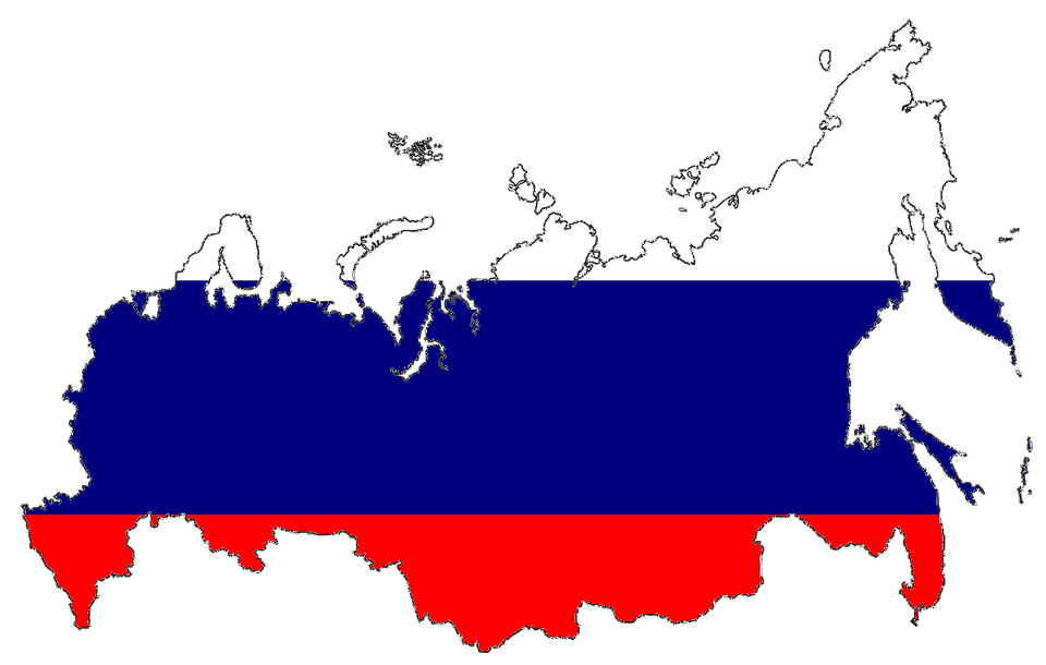 Free illustration Russia Flag Map Country Symbol Free Image