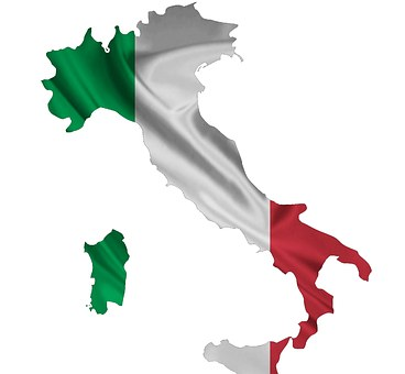 Italy, Flag, Map, Country, Symbol