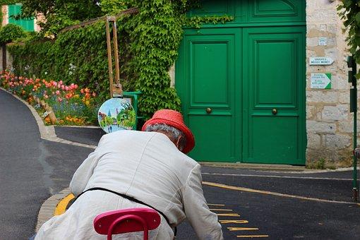 Straße, Malerei, Bildmaterial, Bunte