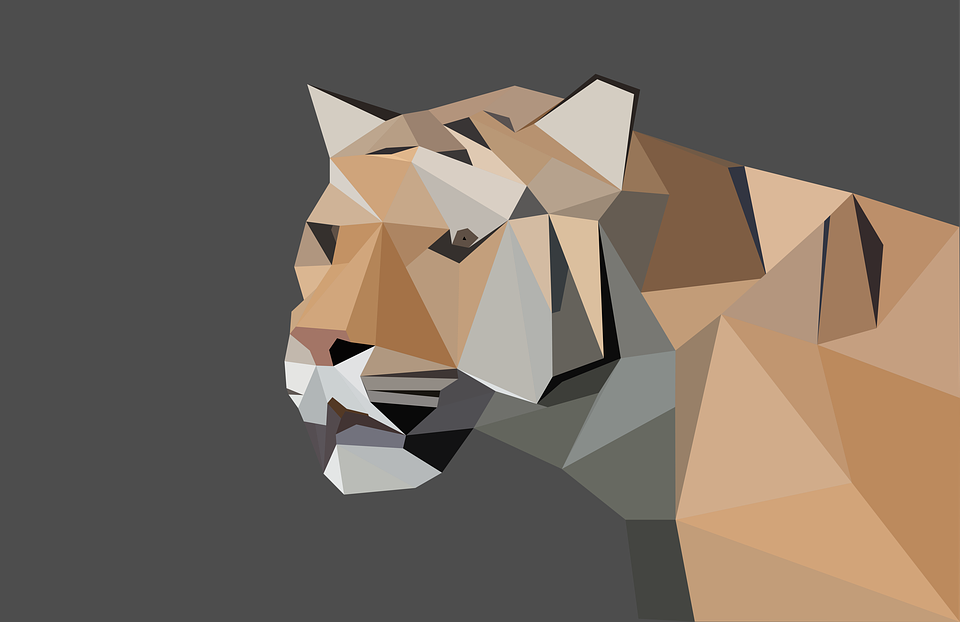 Tiger Low Poly Predator Animal Big Cat Nature Zoo