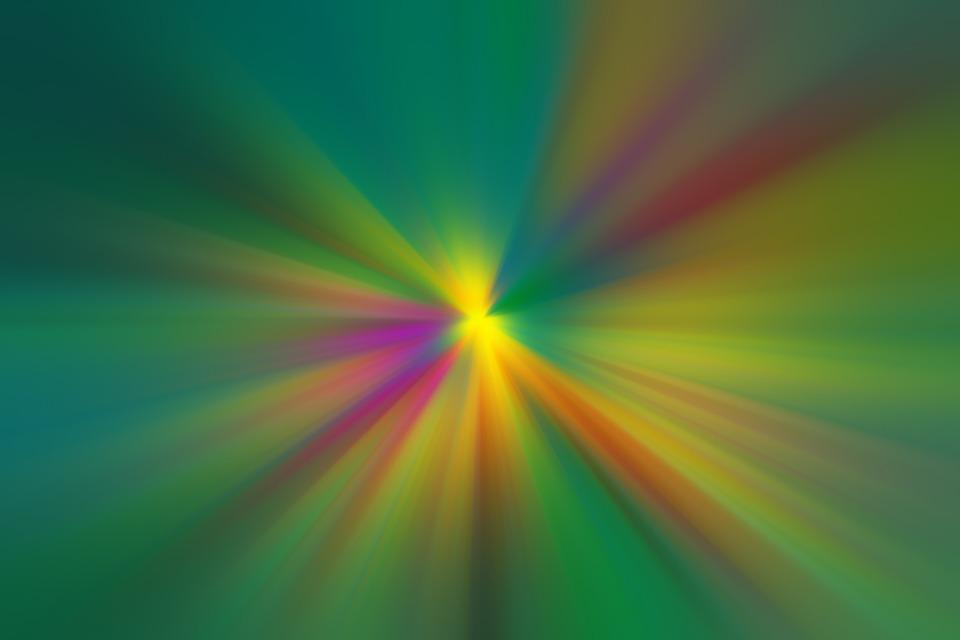 Ilustrasi Gratis Abstrak Warna Hijau Cahaya Gambar Warni