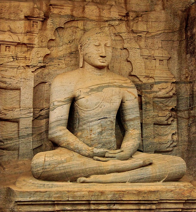 Buddha, Statue, Tempel, Religion, Granit, Buddhismus