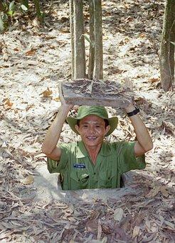 Cu chi tunnel in Vietnam