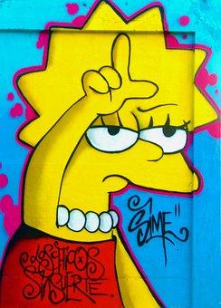 Graffiti, Loser, Lisa Simpson, Lisa