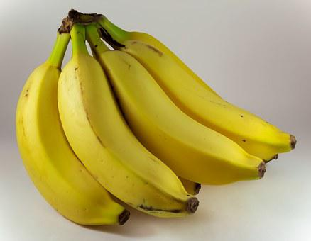Banana, Yellow, Bunch Of Bananas, Fruit