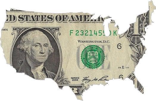 Resultado de imagem para mapa dos estados unidos em dólar