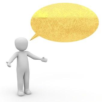 Rede Sprechblase Sprechen Blase Moderation