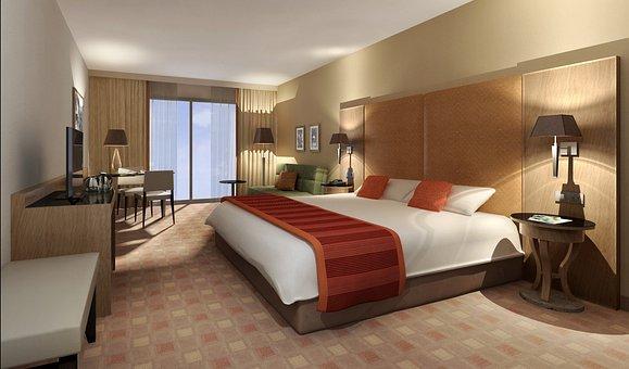 内部空間, ホテル, レンダリング, 視覚化, 建築, 視覚化3D