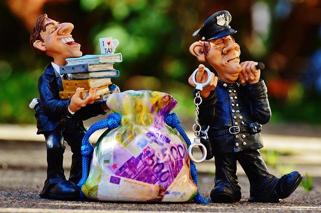 税金, 脱税, 警察, 手錠, 詐欺, 租税コンサルタント, 金融, お金, 納税申告, 請求, 所得税, 富