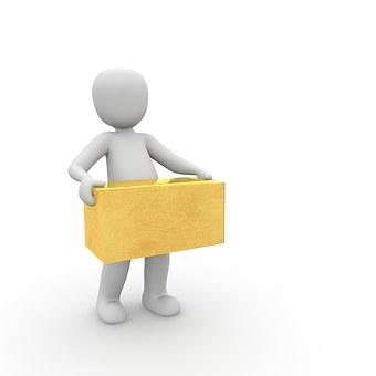 パッケージ, 交通機関, 配達人, メッセンジャー, 包装, 在庫あり, 物流
