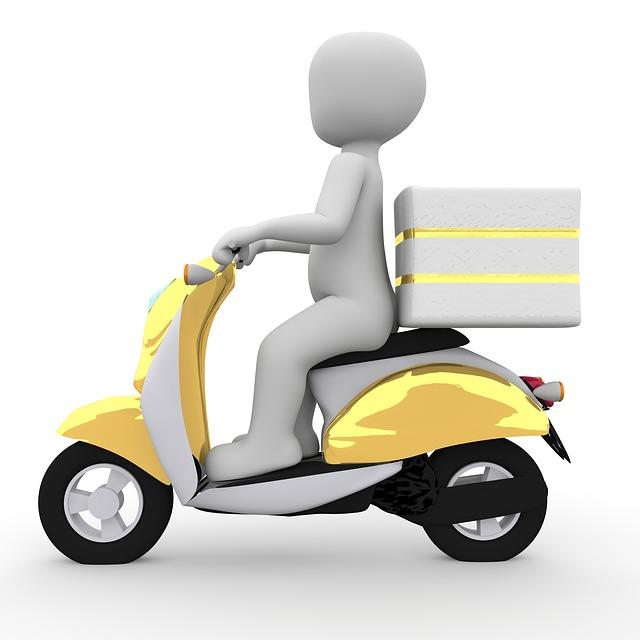 Free Illustration: Roller, Vespa, Delivery, Motorcycle