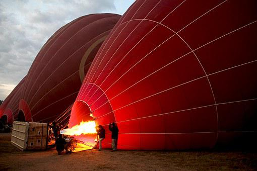 Hot Air Balloon Ride, Balloon, Fire
