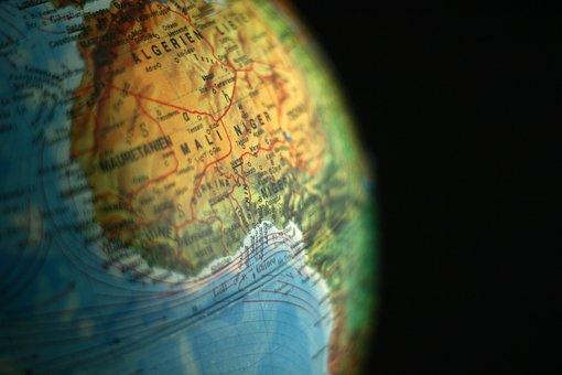 Globe, Algérie, Niger, Mali, Afrique