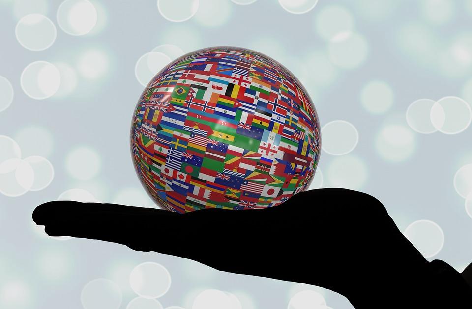 Käsi, Säilytä, Pallo, Liput, Lippu, International