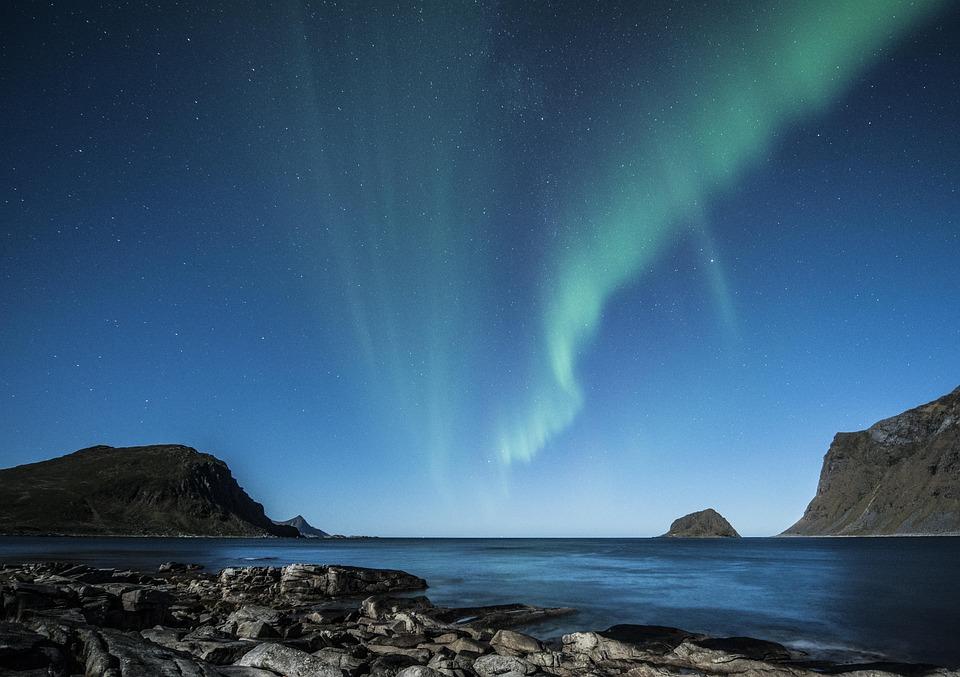 Aurora boreale lofoten norvegia foto gratis su pixabay - Diva futura su sky ...