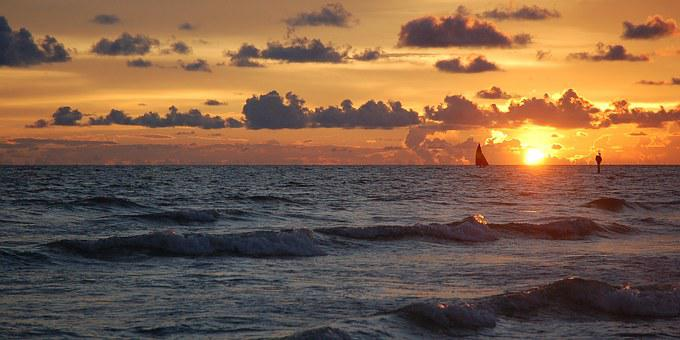Sunset, Siesta Key, Florida, Beach