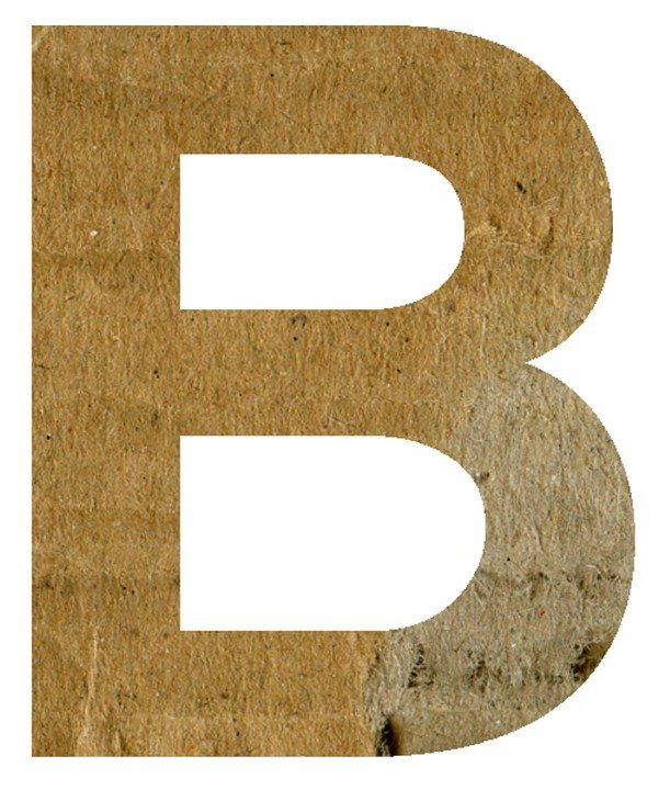 B, Alphabet, Letter, Text, Scrapbook, Craft, Paper