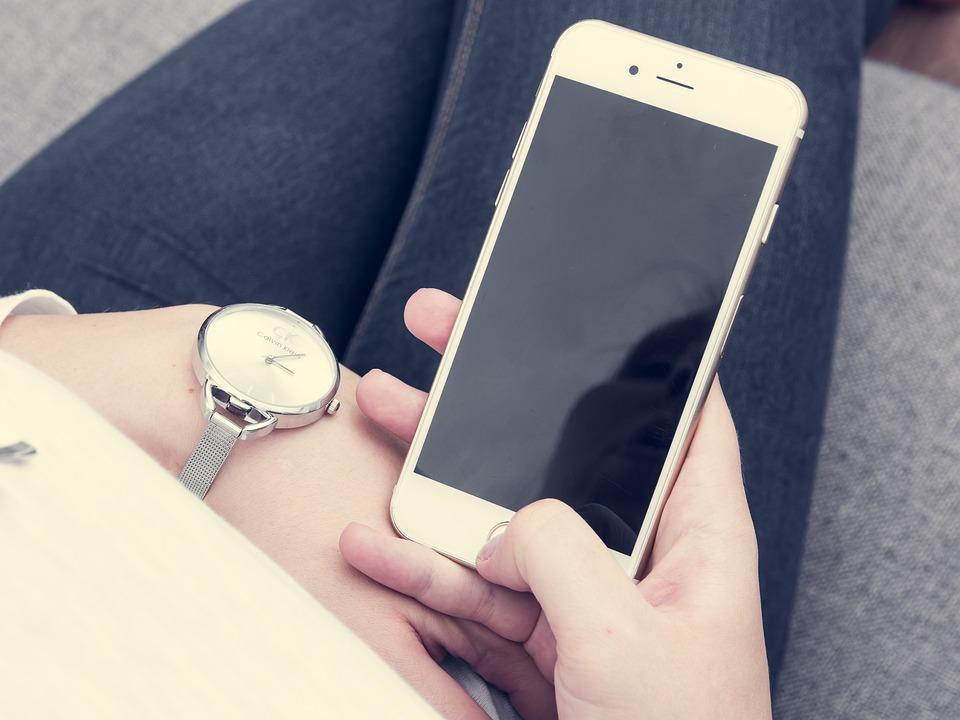 Iphone ของ, 6S, บวก, แอปเปิ้ล, สีขาว, หน้าจอ, เยาะเย้ย