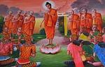 buddha, devotees, prayer