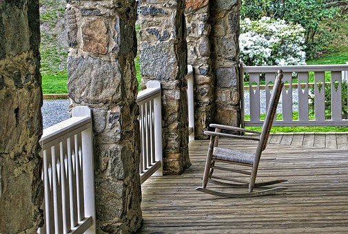 Porch, Rocking Chair, Wood, Relax