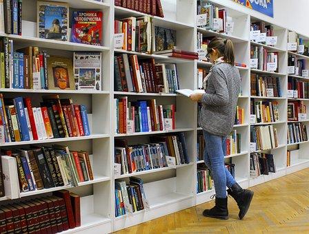 Girl Library Books Reading Education Publi