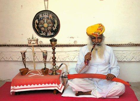 Raucher, Opium, Indien, Palast